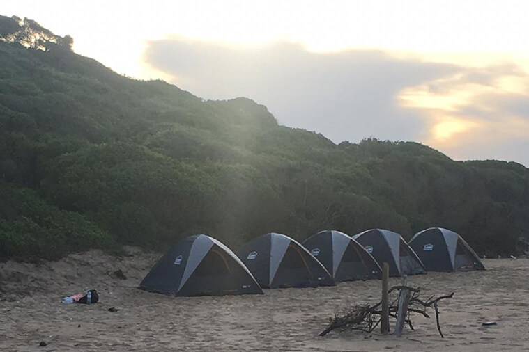 inhaca to ponta membene camping tour