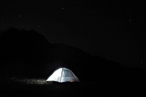 calanga beach camping