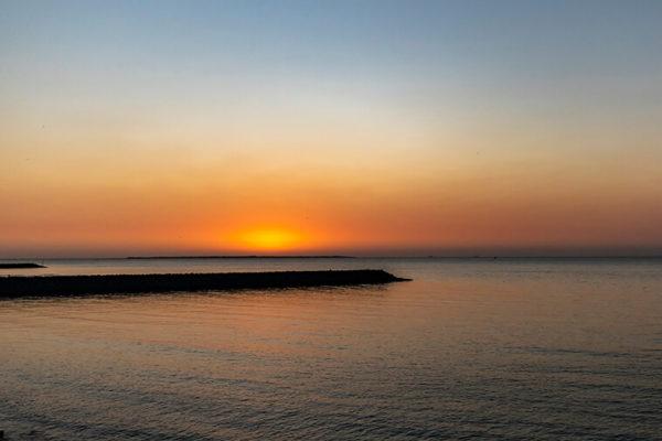 maputo bay sunset
