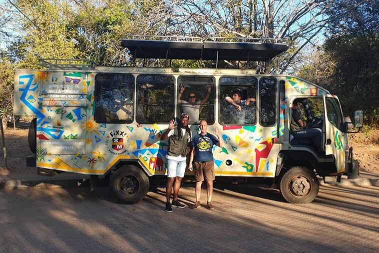 overland safari truck